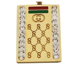 Womens Gucci Styled Gold Plated Necklace